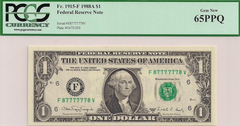one dollar bill serial number worth